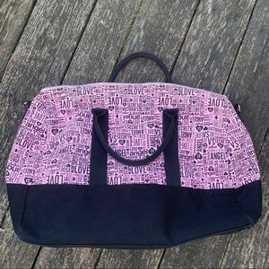 Victoria secret angels pink weekender bag